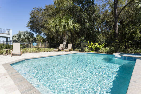 Your secluded pool is next to a nature conservation for great views and added privacy
