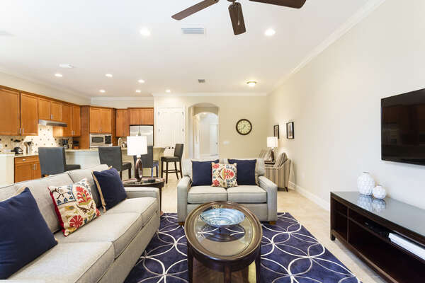 The open living area is spacious and comfortable