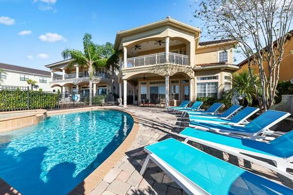 The whole family will love the oversized pool deck
