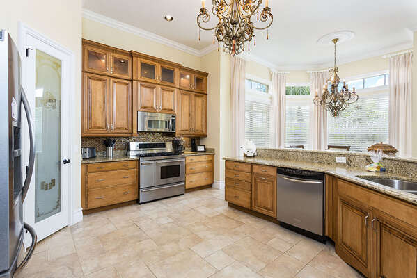 Spacious open kitchen for preparing delicious meals