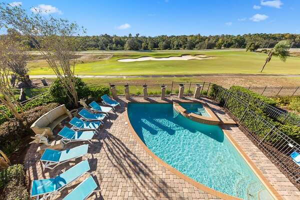 Enjoy incredible amenities including your own private pool and spa