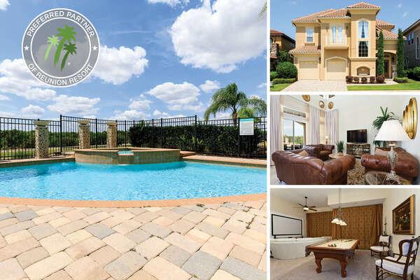 Welcome to Legends Villa, a 5 bedroom vacation home rental in Reunion Resort | PHOTOS TAKEN: September 2016