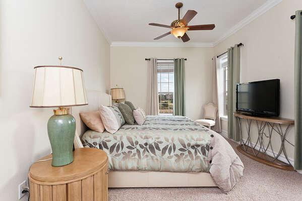 Fourth plush bedroom