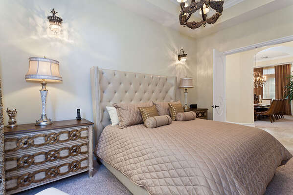 Stylish first floor master suite with a King bed