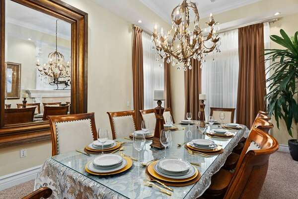 Enjoy meals here together as a family