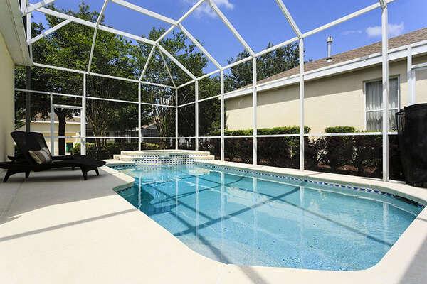 Sunshine poolside