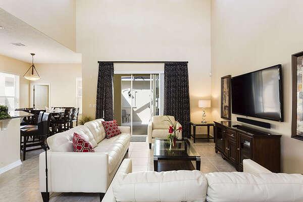 Comfortable plush living space