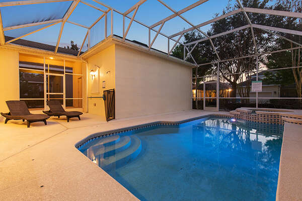 Enjoy your private screened-in pool