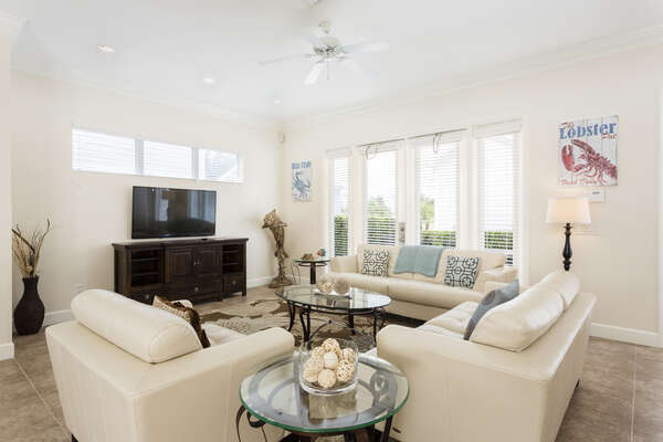 Comfortable living space for the whole family to enjoy