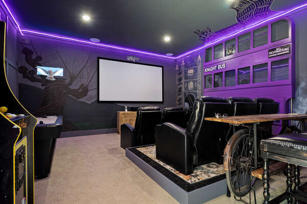 Sit back and enjoy your favorite films on the projector screen