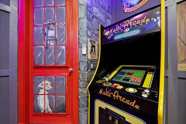 Play a game or two on the Multi-Arcade