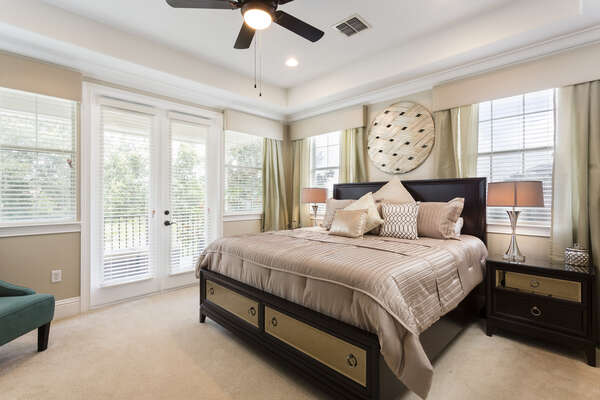 Tastefully decorated master bedroom