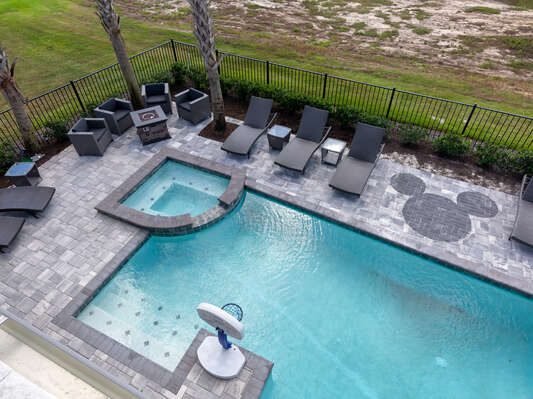 Everyone will love the private pool and spillover spa