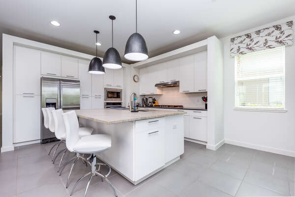 A fully-equipped kitchen