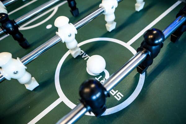 Play on the foosball table