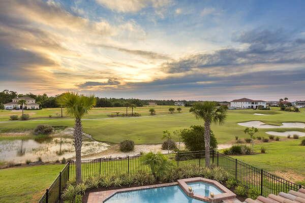Enjoy gorgeous golf course views