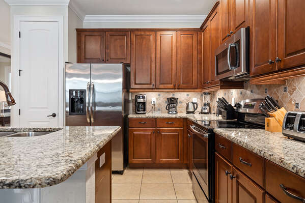 Upgraded with stainless steel appliances and granite counters