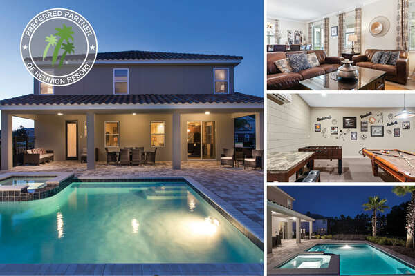 Welcome to West Reunion Estate, a beautiful 8 bed villa perfect for your Orlando vacation | PHOTOS UPDATED: MARCH 2020