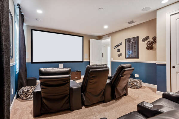 Enjoy a cinematic experience in your person cinema room