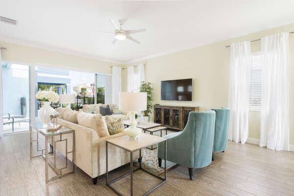 Spacious open living space