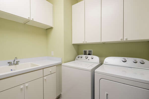 Private washer and dryer in the home