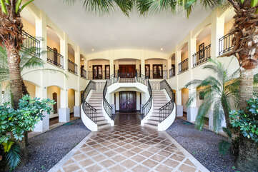 Exquisite staircase to the upstairs