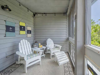 Beautiful private porch off master bedroom