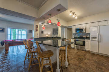 Lower level full kitchen - perfect for days by the lake