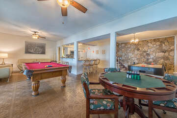 Lower level game room - pool, poker, air hockey