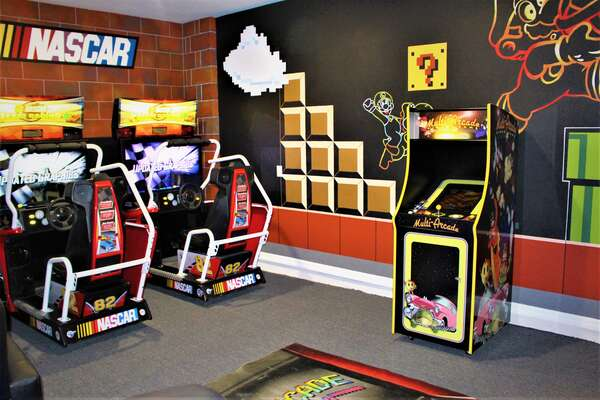 driving games with stand up Multi-Arcade and custom painted murals