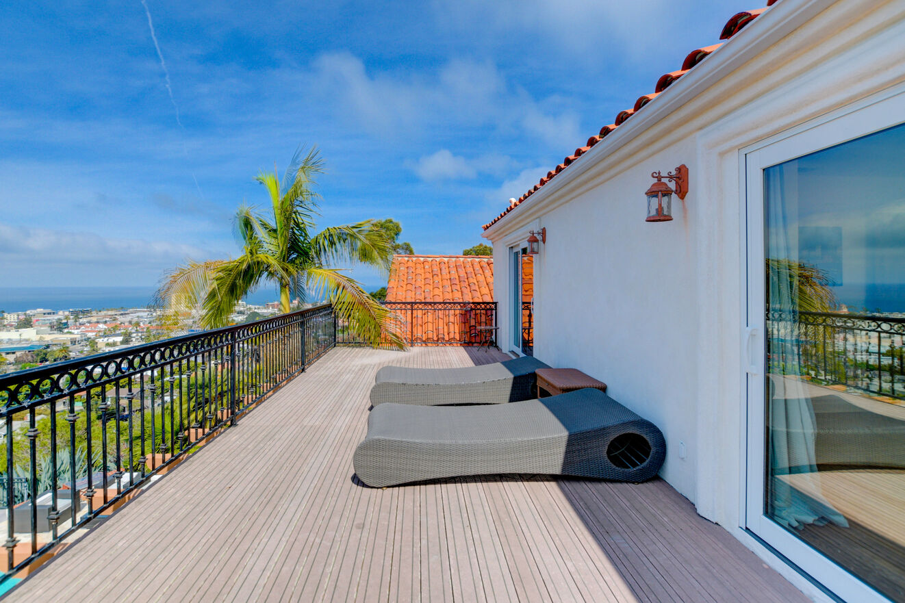 Soak up the sun on the loungers on the south wing balcony