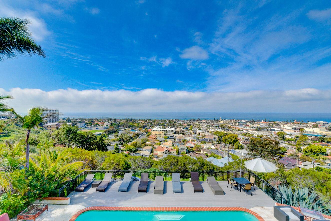 Breathtaking views of the Village of La Jolla