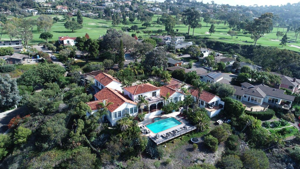 Rancho Santa Fe Mansion sytle home bordering La Jolla Country Club Golf Course with Unobstructed ocean views