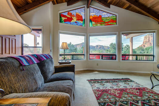 Wall of Windows with Red Rock Views!