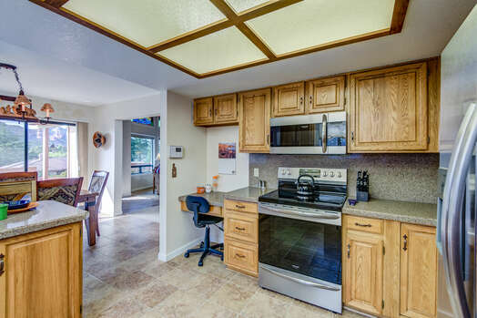 Kitchen with Desk Space