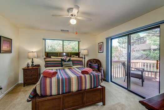 Master Bedroom with a Queen Bed and Plenty of Natural Light