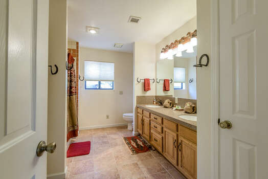 Master Bath with Dual Sinks and a Tub/Shower Combo