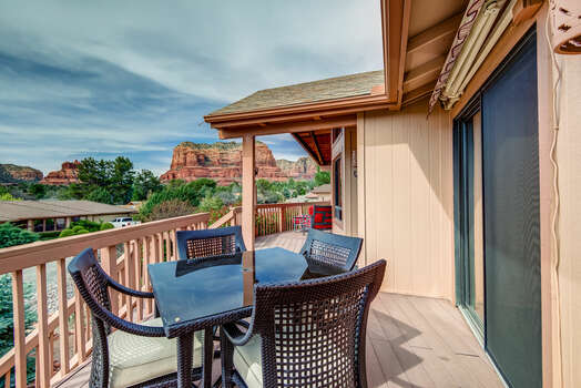 The Home is Surrounded by Sedona Red Rocks