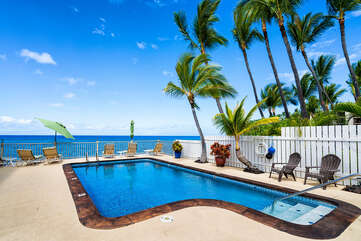 Picture of the ocean side pool