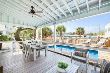 Two seperate porches and pool deck for your outdoor entertaining!