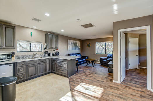 Private Free Standing Casita on Property with 2 Bedrooms, Full Bath and Kitchenette