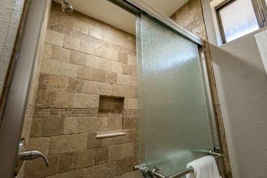 Full Shared Bath with Tile Shower