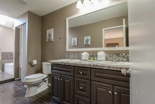 Master Bath 1 with Dual Granite Counter Sinks