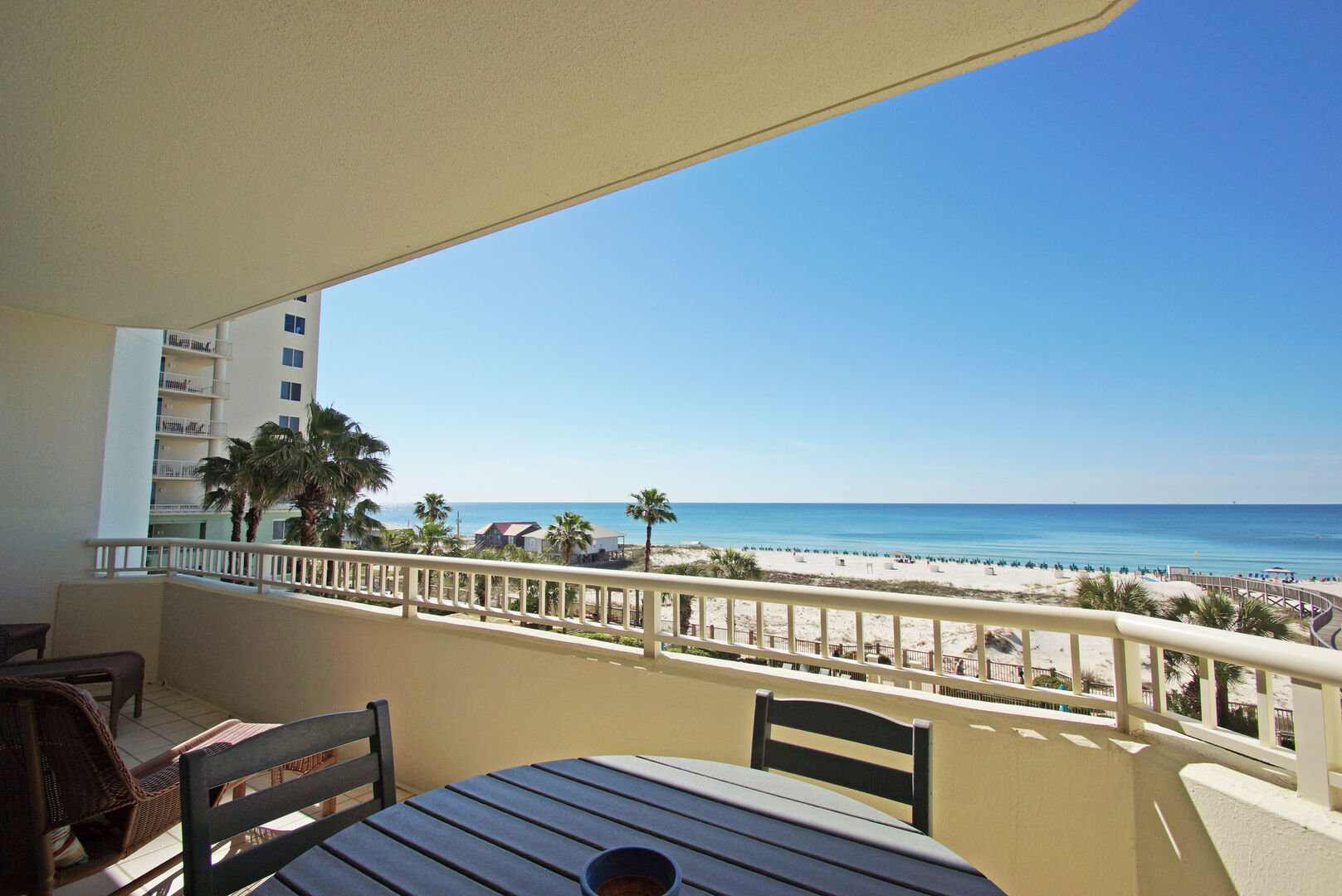 Enjoy the Balcony Views from our Fort Morgan Beach Front Rental