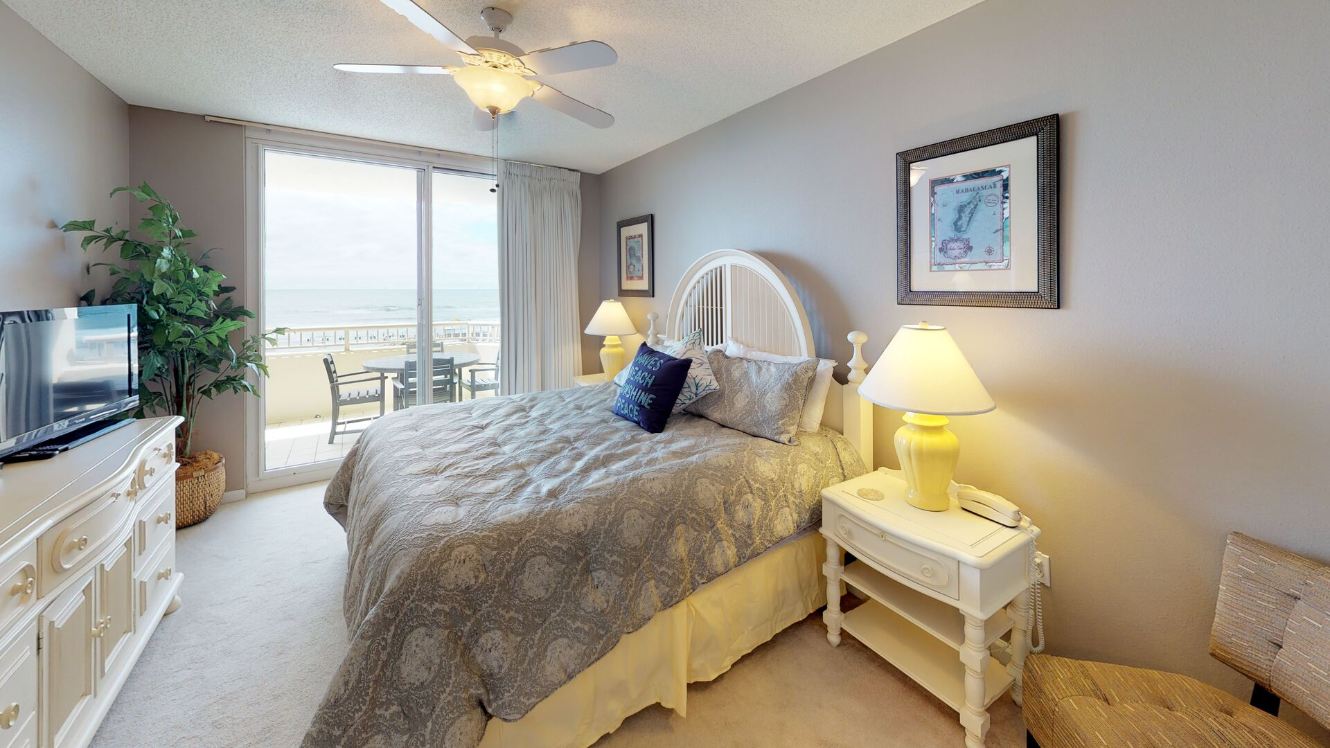 Master Bedroom Features a King Bed
