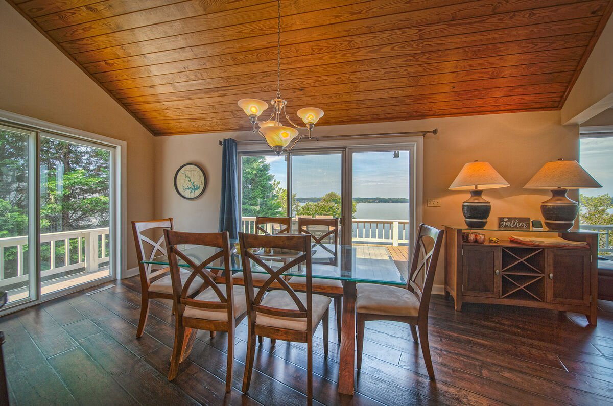 Dining Table in our Smith Mountain Lake House Rental