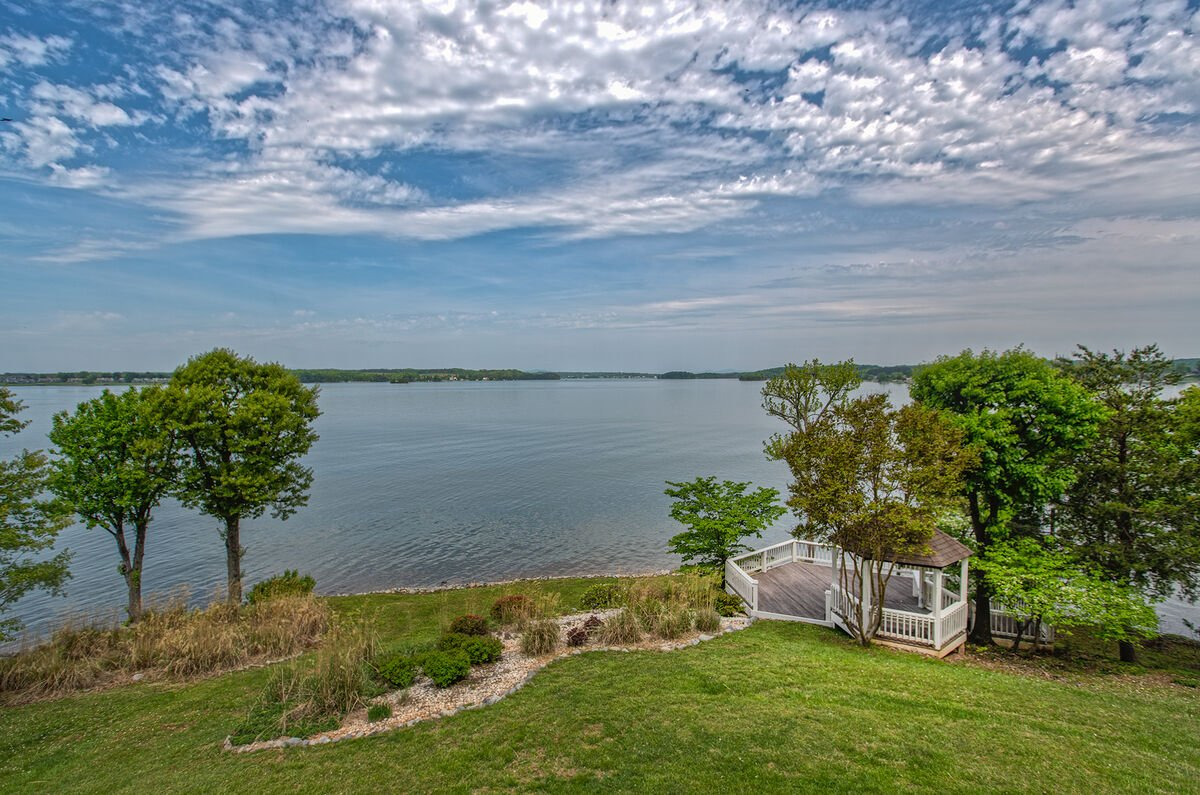 Wide View of the Gazebo Near the Water