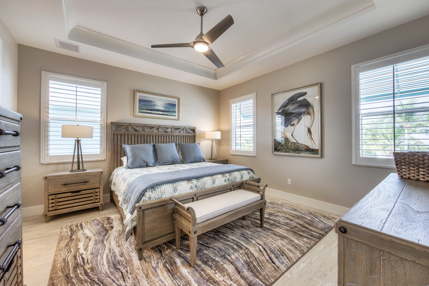 Master Suite at Vacation Home Rental In Fort Myers Beach Florida