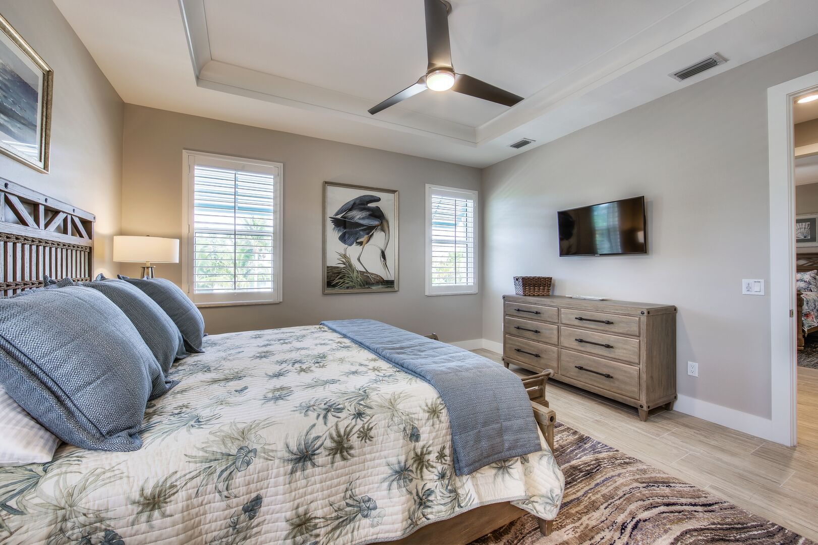 Master Bedroom with TV and Large Bed