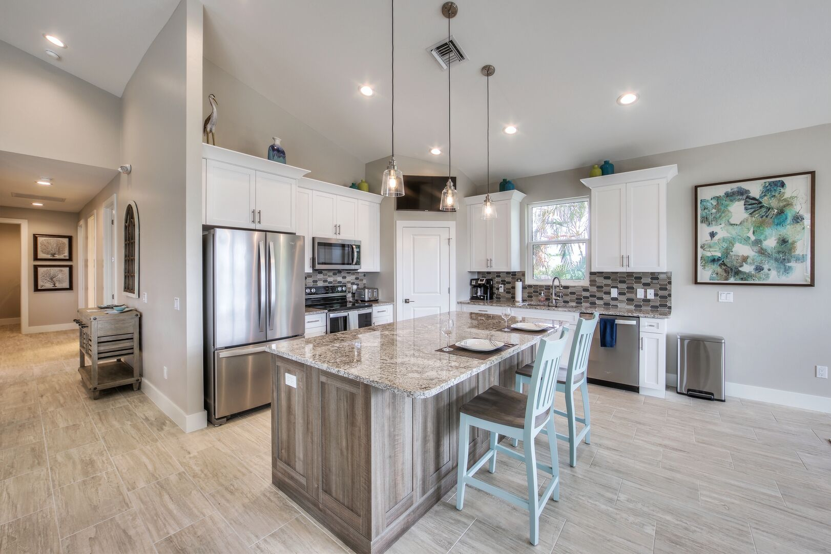 Open Kitchen Area at Vacation Home Rental In Fort Myers Beach Florida